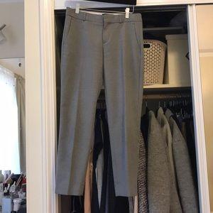 Banana republic grey wool Avery cropped pants